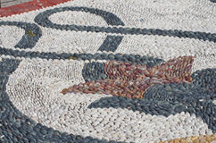 Pebbles mosaic Stock Images