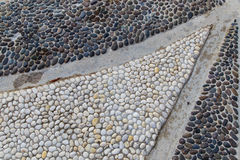 Pebbles mosaic Stock Photography