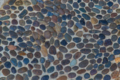 Pebbles mosaic Stock Image