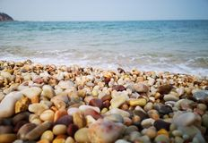 Beautiful Pebbles by the sea royalty free stock images