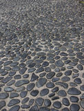 Pebbles path. Garden path made of pebbles Royalty Free Stock Photography