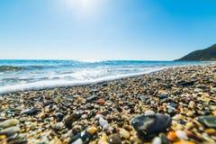 Pebbles in Perdepera beach. Sardinia, Italy Royalty Free Stock Image