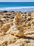 Pebbles pf stones at the beach, symbol for inner life balance in Zen meditation stock photos