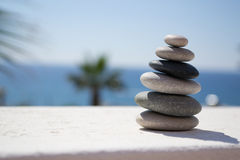 Pebbles. Picture of a stack of pebbles stock images