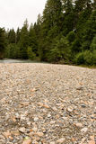 Pebbles on River Bank Royalty Free Stock Photos