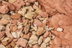 Pebbles and Rock Layers Royalty Free Stock Images