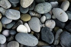 The pebbles rocks on the beach. Close up stock photo
