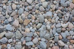 Pebbles and Rocks. A collection of Pebbles and Rocks bye the sea shore Stock Photo