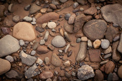 Pebbles and sand, Shanxi Province, China Stock Photography