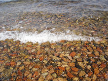 Pebbles at sea shore Stock Photography