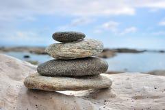 Pebbles on seaside Stock Image
