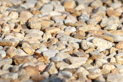 Pebbles with shallow focus Royalty Free Stock Images
