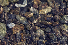 Pebbles in shallow water Stock Photography