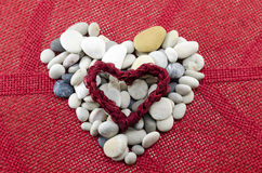 Pebbles shaped into a heart Royalty Free Stock Image