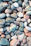 Pebbles on a shingle beach in Iona, Scotland Royalty Free Stock Image