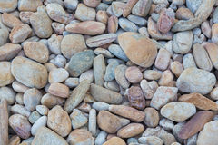 Pebbles small rock background, natural texture Stock Image