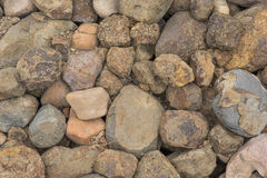 Pebbles som en bakgrundsbild arkivfoto