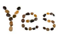 Pebbles som ja spelling ord Royaltyfri Foto