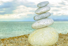 Pebbles stack Royalty Free Stock Photo