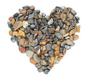 Pebbles stones heart Stock Photos