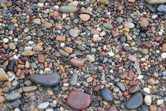 Pebbles on Stoney Beach. In England Stock Images
