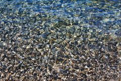 Pebbles under the clear sea water Royalty Free Stock Photo