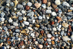 Pebbles Under Water Stock Image