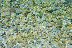 Pebbles under water Royalty Free Stock Photo