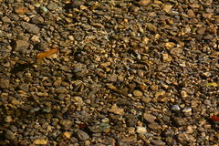 Pebbles under water Royalty Free Stock Photography