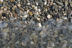 Pebbles and water background Royalty Free Stock Photos