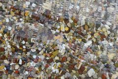 Pebbles in wather Royalty Free Stock Photo