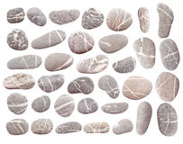 Pebbles on white Royalty Free Stock Image