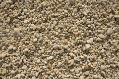 Pebbles wide. A wide view of off white small pebbles Stock Images