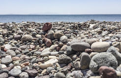 A pebbly beach Stock Images