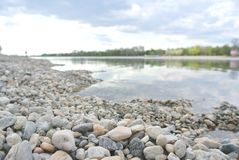 Pebbly lake shore on a summer afternoon Stock Photography