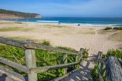 Pebbly strand New South Wales Royaltyfri Fotografi