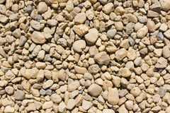 Pebbly surface. Surface with different size gravel Stock Image