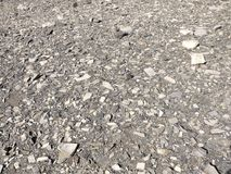 Pebles in a dry river bed. An abstract background of a pebbles in a dry river bed in Patagonia Stock Photo