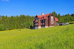 Pec pod Snezkou mountain hut in Giant  Mountains. In Bohemia Royalty Free Stock Photo