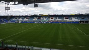 The Pec Zwolle stadium from the inside Royalty Free Stock Images