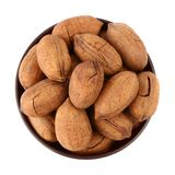 Pecan in the bowl Stock Images