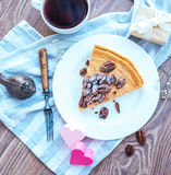 Pecan Cake Royalty Free Stock Images