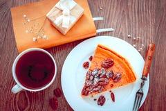 Pecan Cake Stock Images