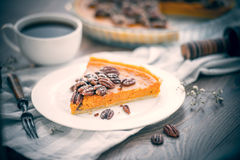 Pecan Cake Royalty Free Stock Photos