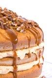 Pecan,caramel and pumpkin flavored cake Royalty Free Stock Photos