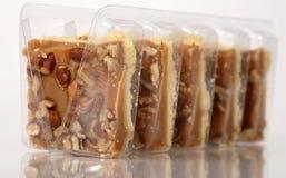 Pecan caramel shortbread cakes. Still in their packaging stock photos