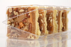 Pecan caramel shortbread cakes. Still in their packaging Stock Images