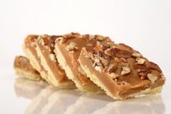 Pecan caramel shortbread cakes Stock Images