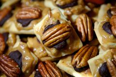 Pecan and chocolate candies Royalty Free Stock Photography