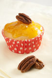 Pecan Cupcake Royalty Free Stock Photography